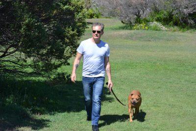 Matt Joy and his dog